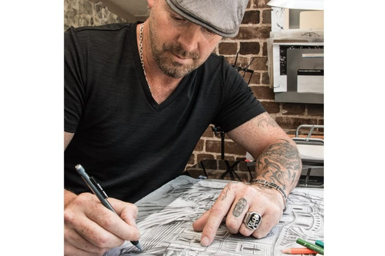 Owner of Sakred Skinz and an accomplished wildlife artist, Shawn Legrow has tattooed all manners of people, from a millionaire businessman to a priest